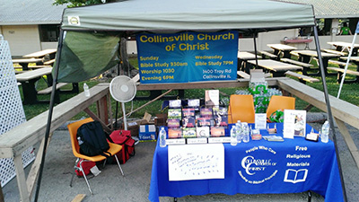 Troy, IL Homecoming Collinsville Church of Christ Display Booth